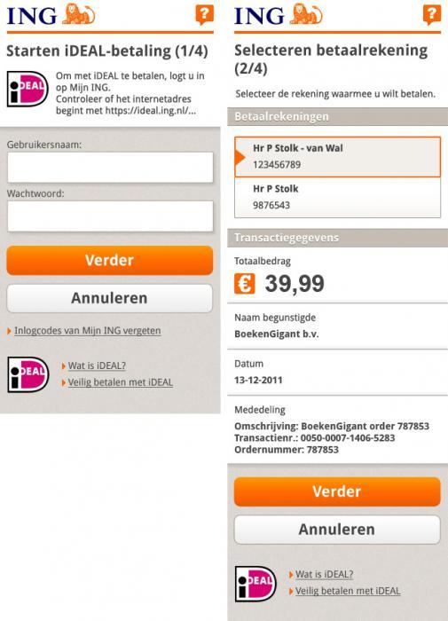 ING komt met mobiele versie iDeal | GSMacties.nl
