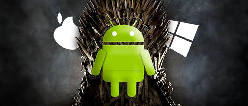 Android domineert smartphonemarkt