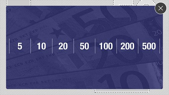 Echt-of-Vals-geldbedragen