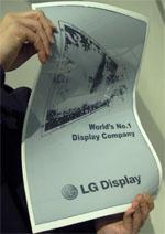 Flexibel scherm LG