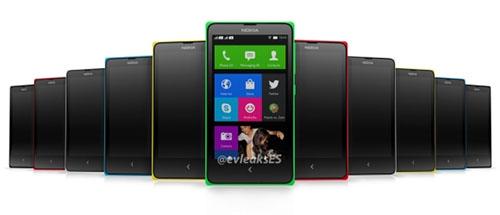 Nokia Normandy startscherm en kleuren